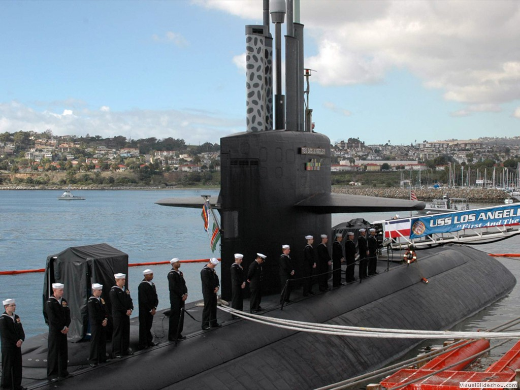 USS Los Angeles (SSN-688) decommissioning ceremony at the Port of Los Angeles on 23 January 2010.