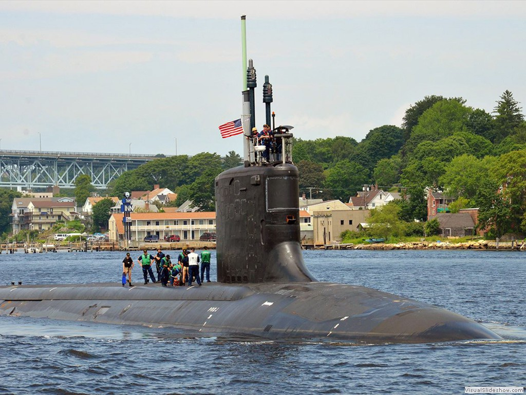 USS Missouri (SSN-780) in the Thames River