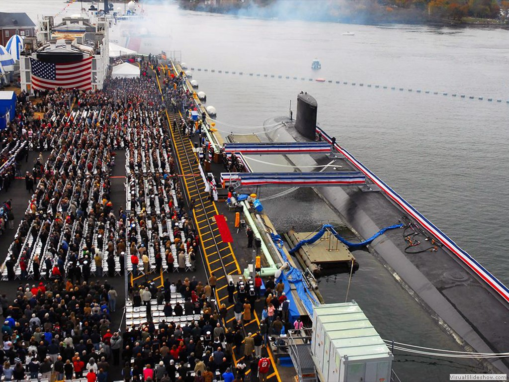 USS New Hampshire (SSN-778) commissioned at Portsmouth Naval Shipyard, 2008.