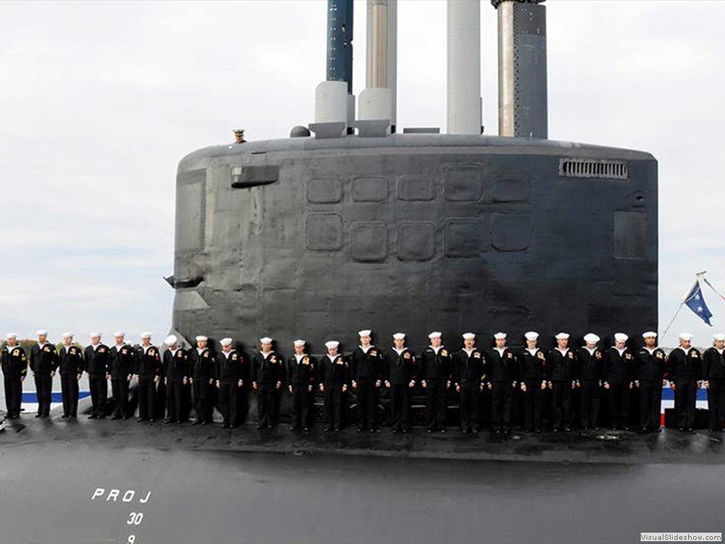 USS New Hampshire (SSN-778) during commissioning, 2005