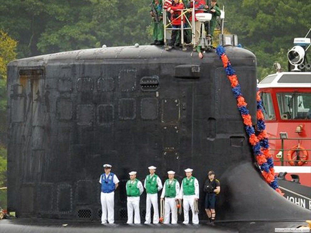 USS New Hampshire (SSN-778) returns to Groton