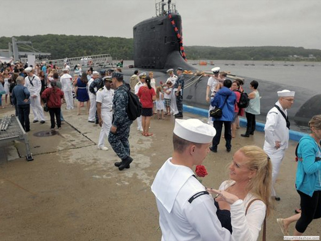 USS New Hampshire (SSN-778) returns to Groton-2